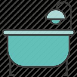 bath, bathe, bathtub, calyx, shower, tub icon