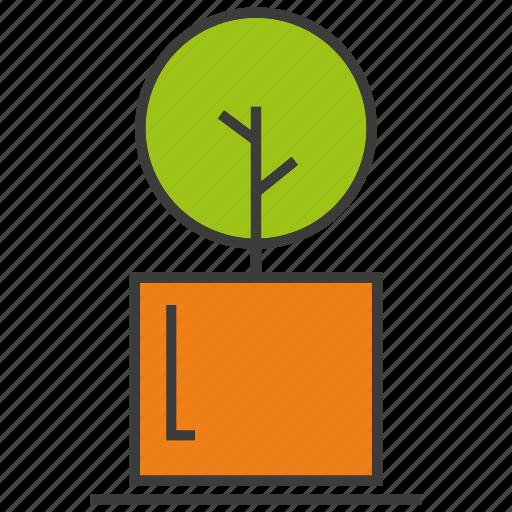 decor, furniture, home decor, plant, pot, tree icon