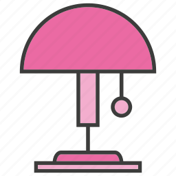 electricity, electronic, funiture, lamp, light, table lamp icon