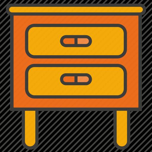 cabinet, decor, furniture, home decor, table icon