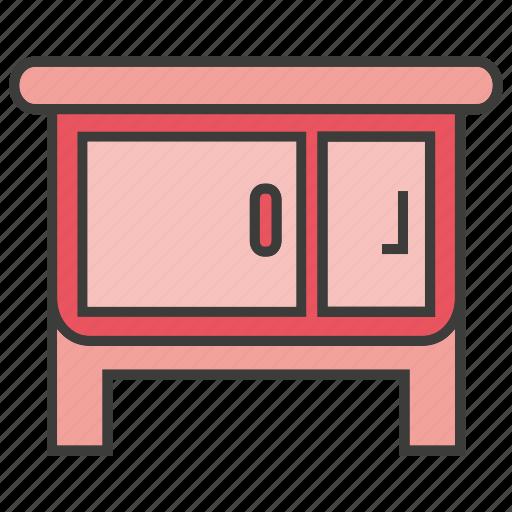 decor, desk, furniture, home decor, table icon