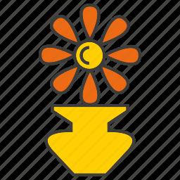 decor, flower, furniture, home decor, plant, pot icon