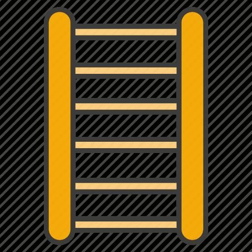 jack ladder, ladder, stair, staircase, stairway, stepladder icon