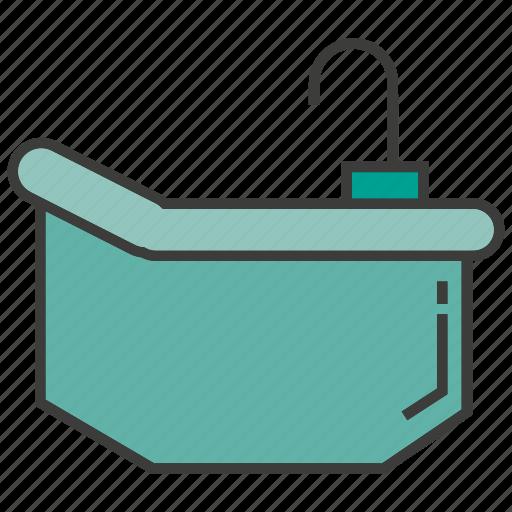 bath, bathe, bathtub, decor, furniture, home decor, tub icon