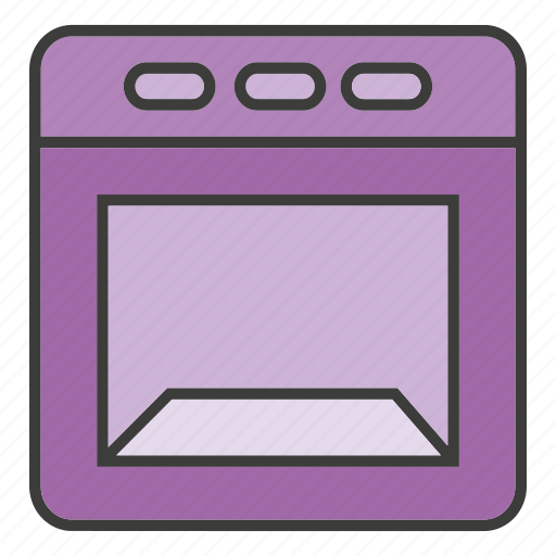 electronic, furniture, microwave icon