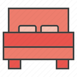 bed, bed room, furniture, home decor icon