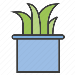 furniture, grass, leaf, plant icon