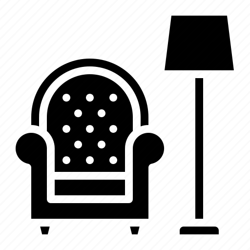 chair, furniture, lamp, living, room, sofa icon