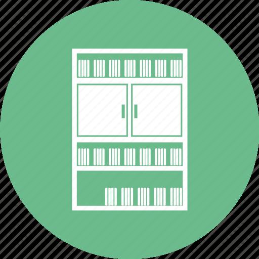 book shelf, books almirah, drawer, files almirah icon