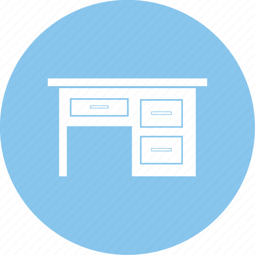 computer table, furniture, office table, table icon icon