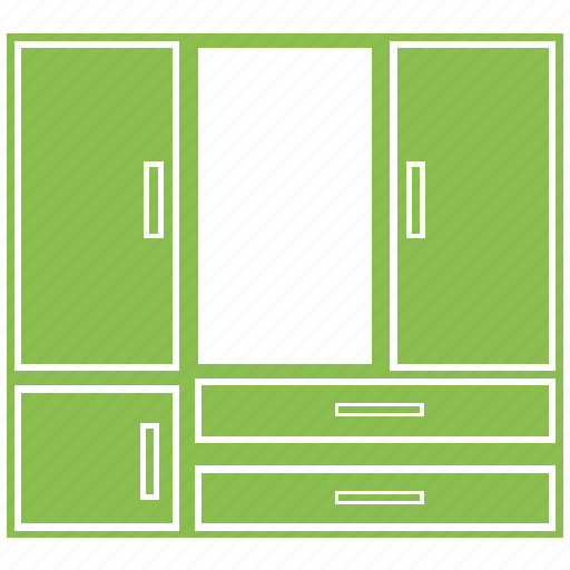 almirah, closet, cupboard, safe almirah, storage cabinet, wardrobe icon