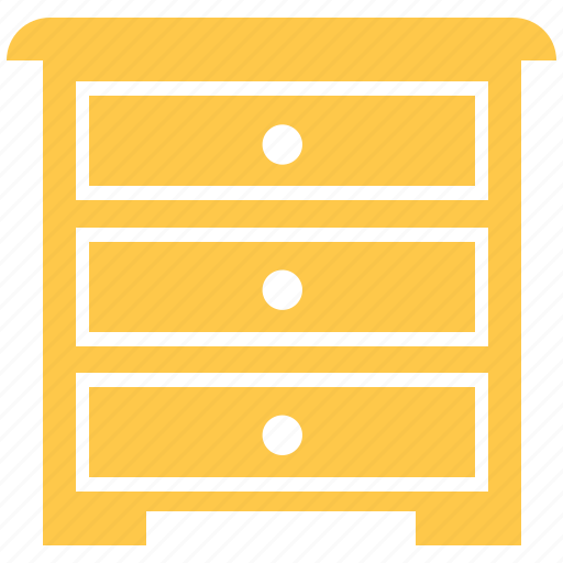 Desk, drawer, furniture, study table, table icon - Download on Iconfinder