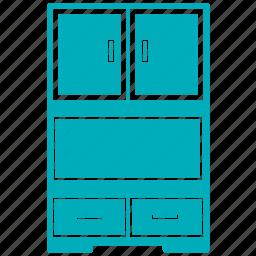 almirah, cabinet, cupboard, drawers, table almirah icon