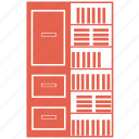 book, library, office, room, shelf, table icon