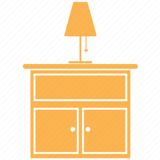 drawer, furniture, home, lamp, office, shelve icon