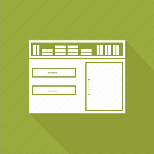 book, library, shelf, table icon