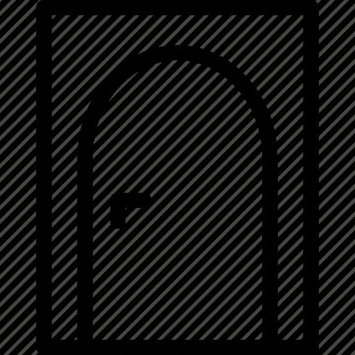 close, door, entrance door, exit, out icon