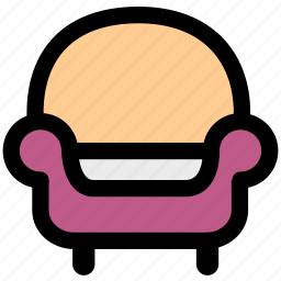 chair, furniture, rest, room, sofa icon