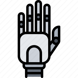 future, hand, prosthesis, robot, science, technology icon