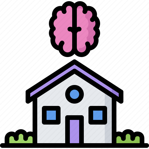 brain, future, house, science, smart, technology icon