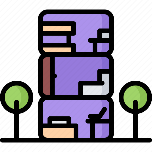 future, house, module, residential, science, technology icon