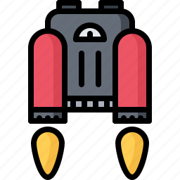 fire, future, jetpack, science, technology icon