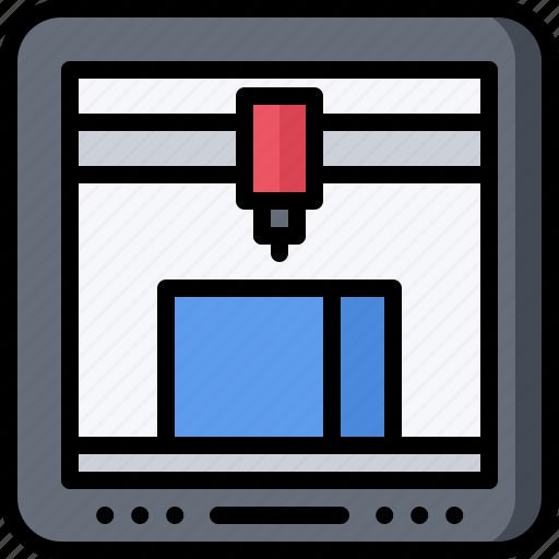 future, printer, science, technology icon