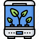future, growing, incubator, plant, science, technology icon