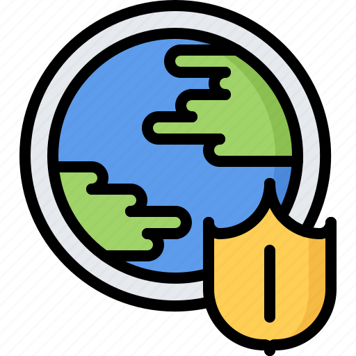 earth, future, planet, protection, science, shield, technology icon