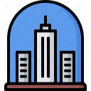 building, city, dome, future, science, technology icon