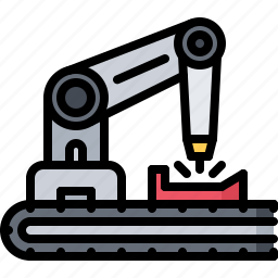 factory, future, production, robot, science, technology icon