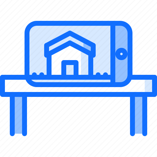 augmented, future, phone, reality, science, technology icon