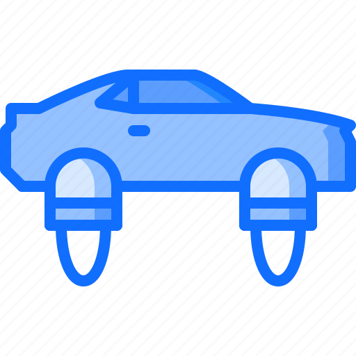 car, fire, flying, future, science, technology icon