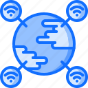 earth, future, internet, planet, science, technology icon