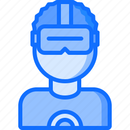 future, glasses, science, technology, user icon