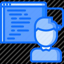 future, human, program, programming, science, technology icon