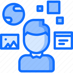 augmented, future, interface, reality, science, technology, user icon