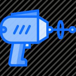 blaster, future, pistol, science, technology, weapon icon