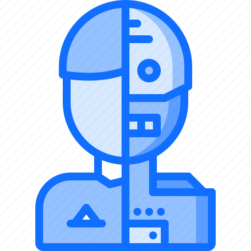 android, future, human, robot, science, technology icon