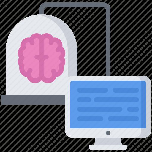 computer, future, intelligence, machine, monitor, science, technology icon