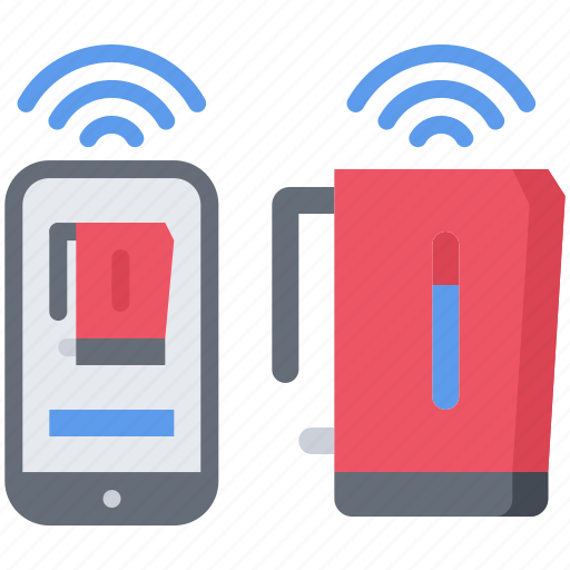 future, internet, kettle, phone, science, technology, things icon