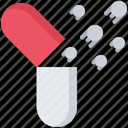 future, medicine, nanorobot, pill, robot, science, technology icon