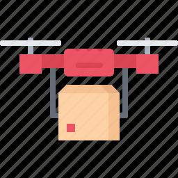 box, delivery, future, quadrupter, science, technology icon