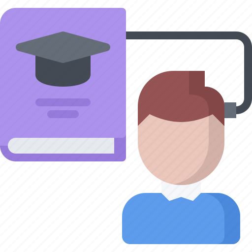 book, future, human, knowledge, learning, science, technology icon