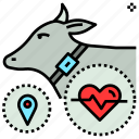 animal, farming, future, livestock, tracker, tracks icon