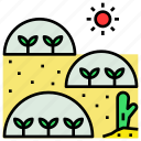 agriculture, closed, desert, ecological, greenhouse, system icon