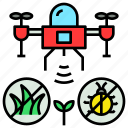 drone, eliminating, enemie, pest, survey, weed icon