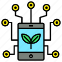 application, data, farm, science, technology icon