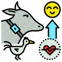 farm, happy, health, improve, livestock, tracker icon
