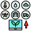 agriculture, database, farming, future, information, internet icon